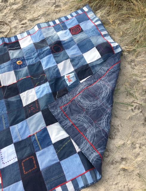Decke mit Rückseite